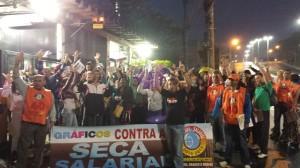 Na quinta-feira, 25/9, o Sindigráficos continuou ativo com a Campanha Salarial dos gráficos de todo estado de São Paulo na empresa Donnelley